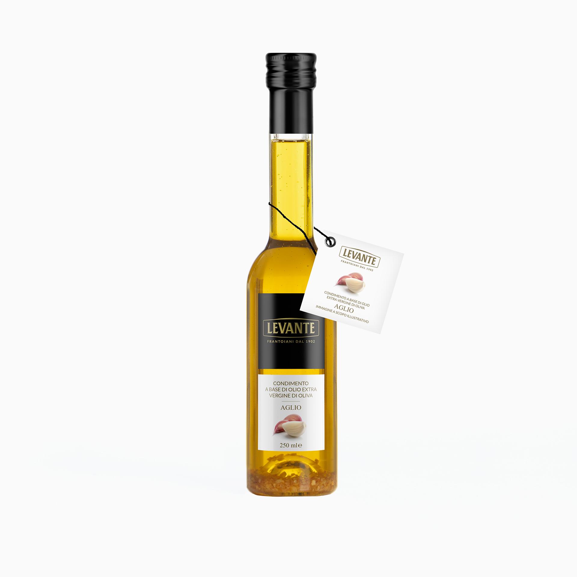 Condimento a base di Olio Extra Vergine d'Oliva al gusto di Aglio