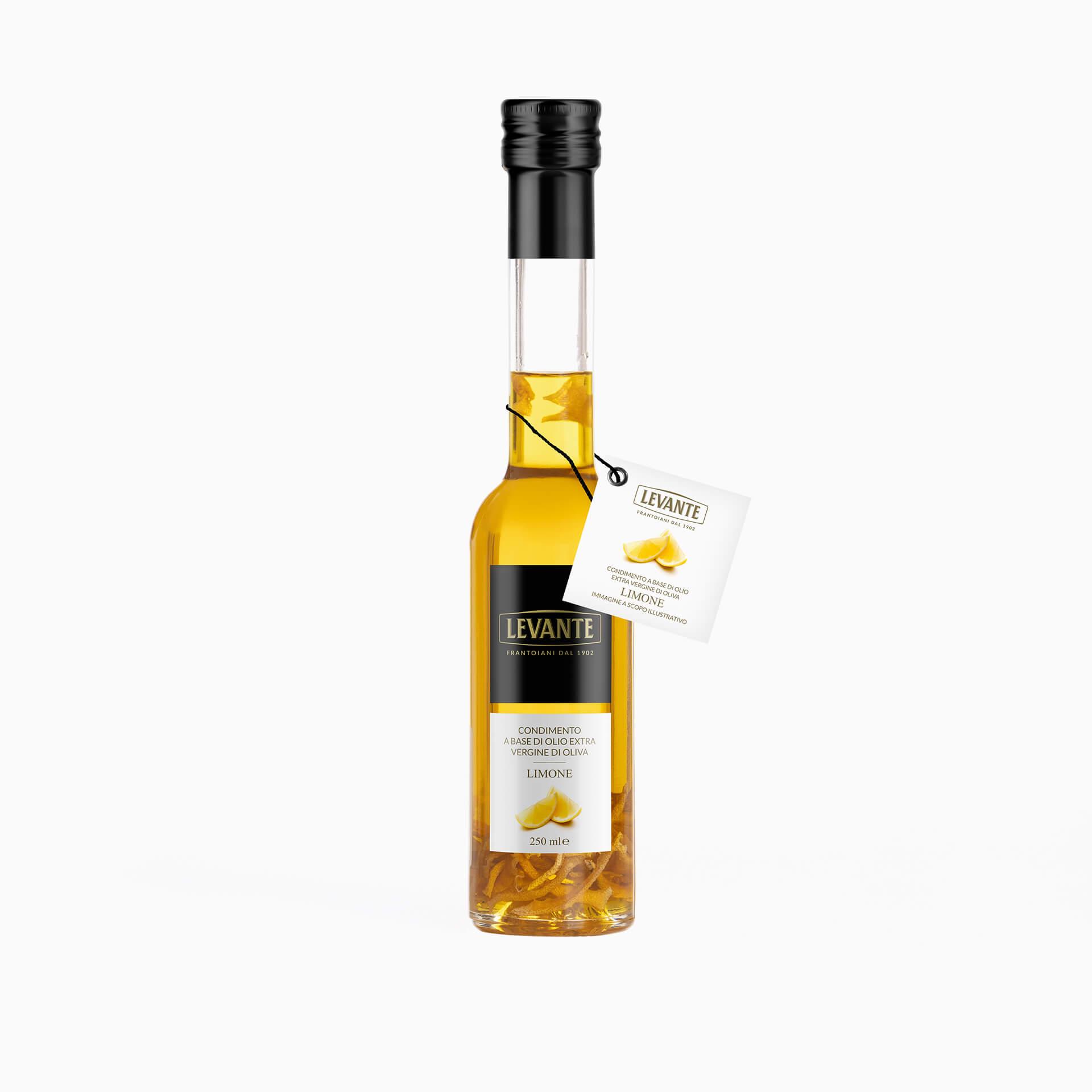Condimento a base di Olio Extra Vergine d'Oliva al gusto di Limone